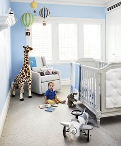 The nursery is a space that embodies nurture, love and playful creativity, so let your imagination run free and be inspired by these 12 enchanting baby rooms. Baby Room Neutral, Nursery Neutral, Hamptons Style Decor, The Hamptons, Johnson House, Best Home Office Desk, Art Deco, Australian Homes, Blue Rooms