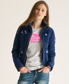 Superdry Quilted Bomber Jacket.