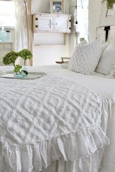 Home Décor Bedding Day Cover Cottage Style Shabby Chic Bed Plaid Throw Blanket Quilt Residential