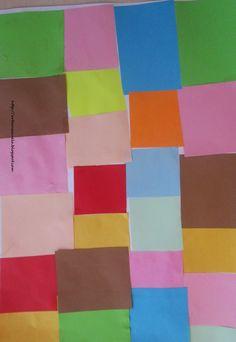 Con cuadros de colores hemos intentado imitar el cuadro de Paul Klee, Flora.