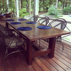 42 best outdoor farm table images wood table woodworking farm rh pinterest com