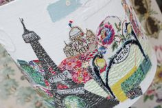 Paris lampshade by Marna Lunt Dream Studio, Art History, Snow Globes, Hand Embroidery, Diy And Crafts, Finding Yourself, Projects To Try, Applique, Geek Stuff