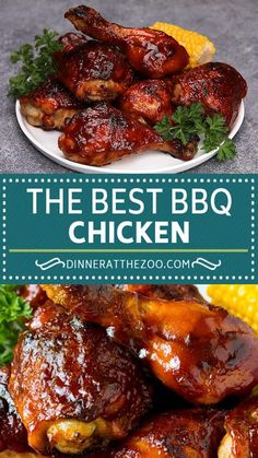 This BBQ chicken is chicken pieces that are grilled or baked until juicy and tender then coated in BBQ sauce and cooked until caramelized. Mexican Food Recipes, Vegetarian Recipes, Cooking Recipes, Grilling Recipes, Dinner Recipes, Cheesy Recipes, Easy Healthy Recipes, Amazing Food Videos, Grilled Chicken Recipes