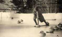 Curling Sports Fanatics, Curling, Cool Cats, Old Photos, Cool Stuff, History, Postcards, Celebrations, Rocks