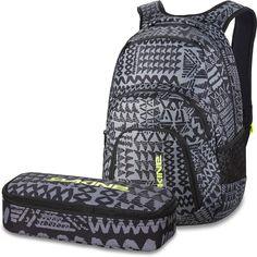 DAKINE 2er SET Laptop Rucksack CAMPUS LG + SCHOOL CASE Mäppchen Crosshatch: Amazon.de: Koffer, Rucksäcke & Taschen