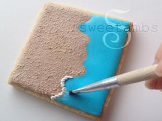 Learn how to make cute beach cookies in this tutorial by SweetAmbs.