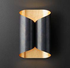 art in lighting : Selfoss Sconce in bronze (Restoration Hardware Modern)