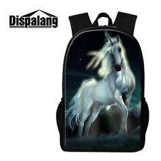 0cc171c4ff Dispalang Fashion School Backpack Unicorn Print Shoulder Back Pack Cute  Bookbag for Girls Lightweight Trendy Mochilas Rucksacks