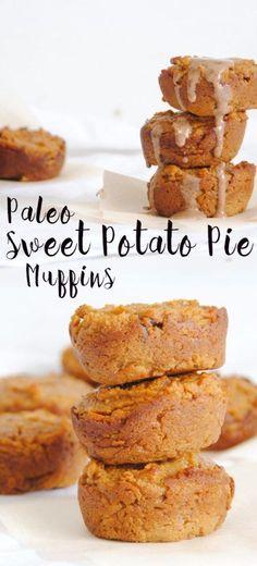 Paleo Sweet Potato Pie Muffins paleo dessert dates Paleo Sweet Potato, Sweet Potato Breakfast, Sweet Potato Recipes, Paleo Breakfast, Best Breakfast, Breakfast Recipes, Breakfast Muffins, Breakfast Ideas, Breakfast Bars