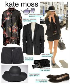 Black shorts and a blazer