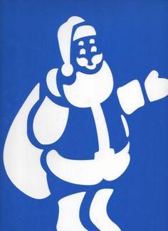 Pochoir Père Noël 35 cm x 25 cm pour décoration http://fournitures-loisirs.les-creatifs.com/scrap-carterie.php?refer=Pochoir-Pere-Noel-35 Pochoir carton Père Noël  réutilisable pour la décoration de vos fenetres , mur, chambre, ou tout autre décoration  Dimension : 35 cm de long sur 25 cm de largeur
