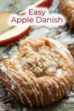 Sweet Breakfast, Breakfast Dessert, Breakfast Ideas, Apple Danish, Homemade Apple Pie Filling, Apple Pie Bites, Pillsbury Recipes, Apple Desserts, Apple Recipes