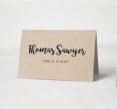 Printable Place Card Template Wedding Cards Name Tags Calligraphy Edit In Word Or Pages