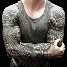 Bold Polynesian And Maori Tattoos Inked Freehand With Elaborate Details - DesignTAXI.com #maoritattoosmen