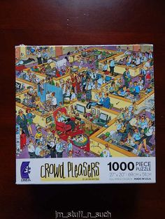 CEACO Crowd Pleasers The Office Jan Van Haasteren 1000 pc Jigsaw Puzzle Complete #Ceaco