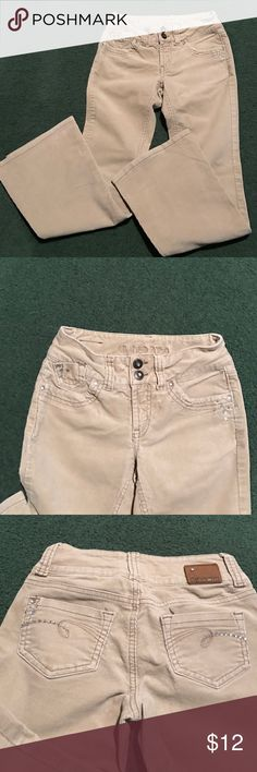 Limited Too beige cords Limited Too beige youth jeans boot cut. Rhinestone accents. Really cute. Never worn. limited too Jeans Boot Cut