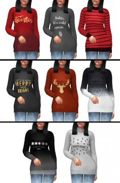 Kenzar Sims: Christmas Sweater • Sims 4 Downloads