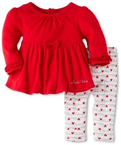 Calvin Klein Baby-girls Newborn Tunic with Leggings, Red, 6-9 Months Calvin Klein. $14.28