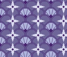 Art Deco Sunburst fabric by shelleymade on Spoonflower - custom fabric