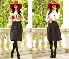 River Island Hat, H&M Skirt