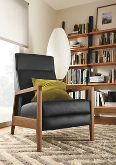 Westport Leather Recliner - Recliners & Lounge Chairs - Living - Room & Board  Made by american leather.  Durable. Well made.  Nice for bedroom or livingroom or office reading corner.