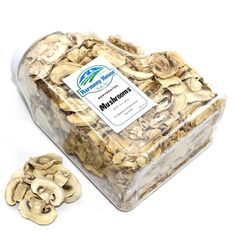 Succulent sliced Dehydrated Mushrooms! The delightful flavor and texture of our dried mushroom snack can now be had for a fraction of the cost! Generously add mushrooms directly into soups, stews, casseroles, or other dishes. When they rehydrate, they will have the same distinct flavor as fresh mushrooms! Dried Mushrooms, Stuffed Mushrooms, Snack Jars, Dehydrated Vegetables, Casseroles, Stew, Soups, Snacks, Fresh