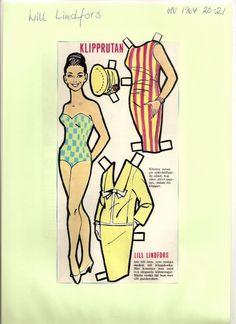 Lill Lindfors paper doll, 1964
