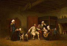 Escena familiar par Théophile Emmanuel Duverger