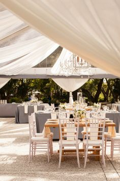 Outside wedding reception seating