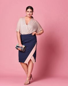 Trendy Sewing Skirts Plus Size Ideas Plus Size Pencil Skirt, High Waisted Pencil Skirt, Plus Size Skirts, Plus Size Summer Fashion, Plus Size Fashion Tips, Plus Size Outfits, Pencil Dress Outfit, Pencil Skirt Outfits, Pencil Skirts
