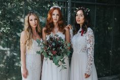 Brautfrisuren 2018 für mittellange und lange Haare mit Glitter