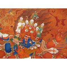 Thangka: Haryagriva red thangka by Tashi Dhargyal. TashiDhargyal.com Facebook.com/TibetanArt Twitter.com/tashidhargyal
