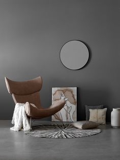 The Imola chair looking great on the grey background