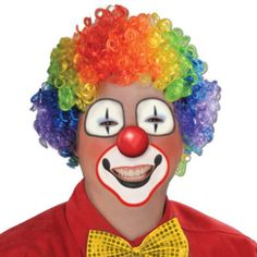 rainbow clown wig Case of 12
