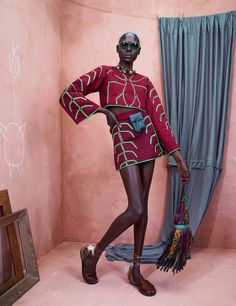 Black top models: Ajak Deng and Maria Borges for models.com fashion editorial. African designers pieces. Style inspiration.