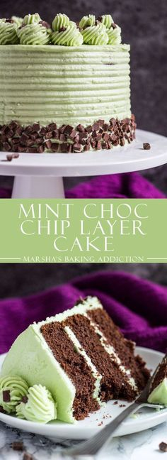 MINT CHOCOLATE CHIP LAYER CAKE | Cake And Food Recipe
