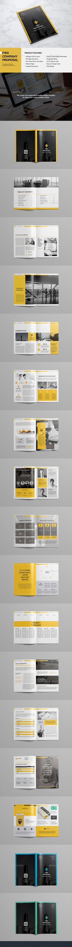 Fira Company Proposal Template InDesign INDD. Download here…