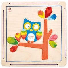 Hape Hoot Owl Kid\'s Wooden Arts and Crafts Kit Hape Toys, Nursery Accessories, Developmental Toys, Home Safety, Paint Finishes, Wood Construction, Art Pieces, Owl, Xmas