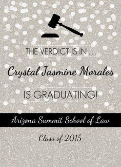 law school graduation party invitation Make Something Law School