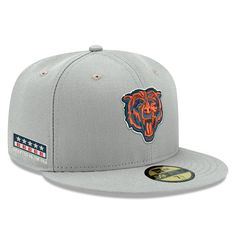 a7199e4eb Men s Chicago Bears New Era Gray Crafted In The USA 59FIFTY Fitted Hat