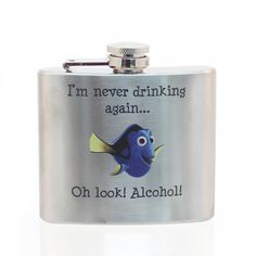 Haha! Stainless Steel Flask - Dory Design 5oz