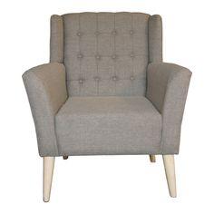Descripción El sillón individual tiene una estructura fabricada de madera de pino. El acolchado es de hule espuma de 22 pulgadas tapizado con tela Quamtum, text