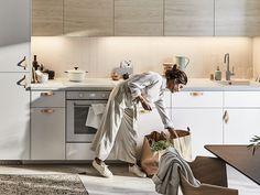 Ikea Kitchen Cabinets, Double Vanity, Room Inspiration, Loft, House Design, Table, Furniture, Home Decor, Ash
