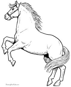 coloring pages to print | Free, printable horse coloring sheets are fun, but they also help kids ...
