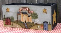 Primitive Saltbox House Patterns   saltbox village 20 i love saltbox houses and this design can be used ...