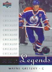 2001-02 Upper Deck Legends #100 Wayne Gretzky CL by Upper Deck Legends. $3.00. 2001 Upper Deck Co. trading card in near mint/mint condition, authenticated by Seller