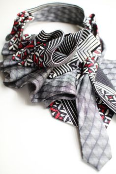 upcycled tie scarf