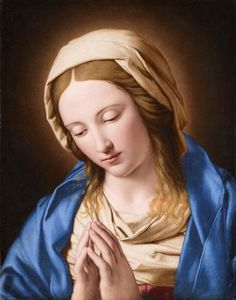 The Virgin in Prayer Virgin Mary Art, Virgin Mary Statue, Blessed Mother Mary, Blessed Virgin Mary, Religious Paintings, Religious Art, Madonna, Our Lady Of Sorrows, Christian Artwork