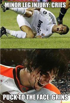 How hockey works, sorry Cristiano Ronaldo,
