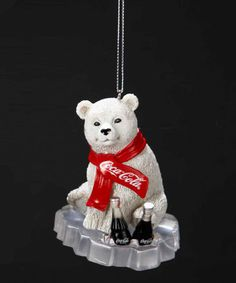 Look what I found on #zulily! Coca-Cola Polar Bear Cub Ornament by Coca-Cola  #zulilyfinds
